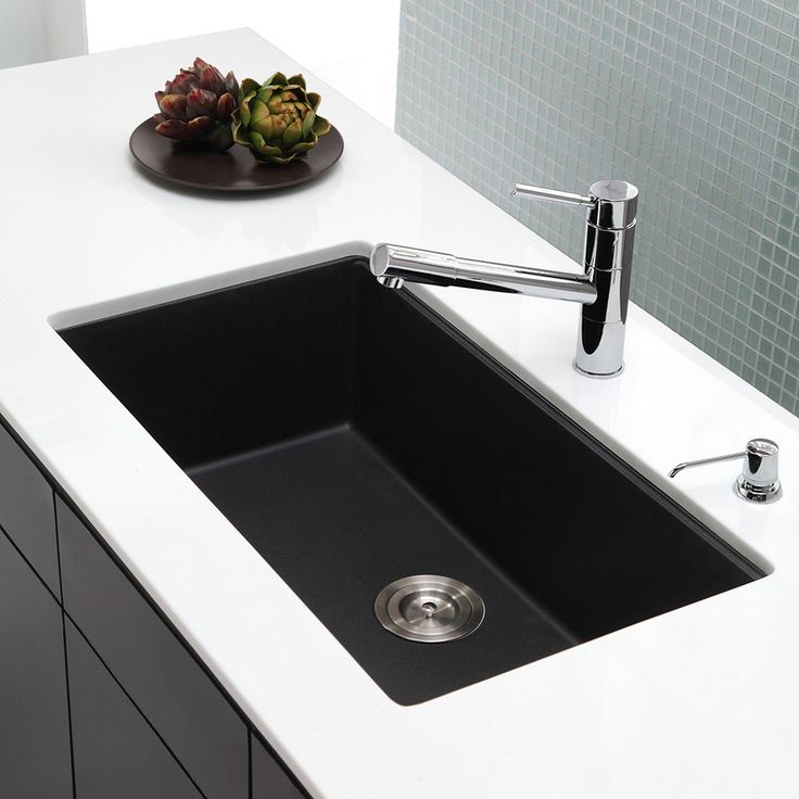 Kraus Kitchen Sink 17 09 In X 30 47 Black Onyx Single Basin