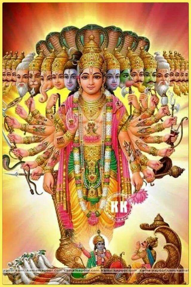 Vishnu Virat Swaroop Divine Hindu Deities ☀️ Lord