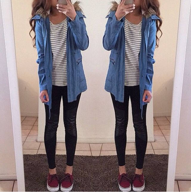 Cute outfit for a rainy fall day