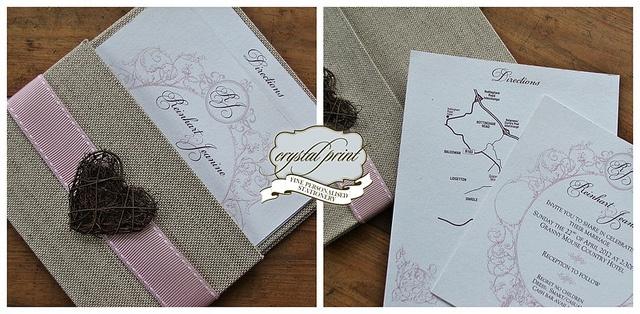 Shabby Chic re-issue invitation set by crystalprint, via Flickr