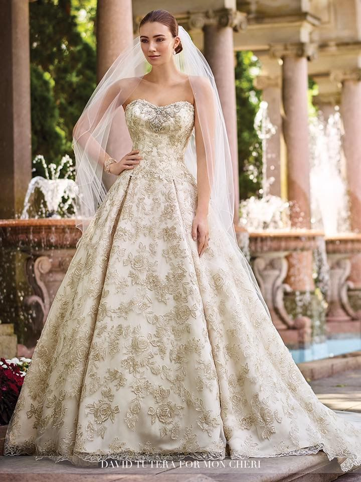 Wedding Dress Gold Accents | Weddings Dresses