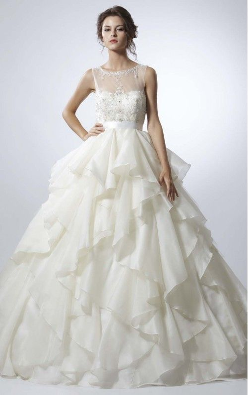 Beautiful Ball Gown Floor-length Wedding Dresses