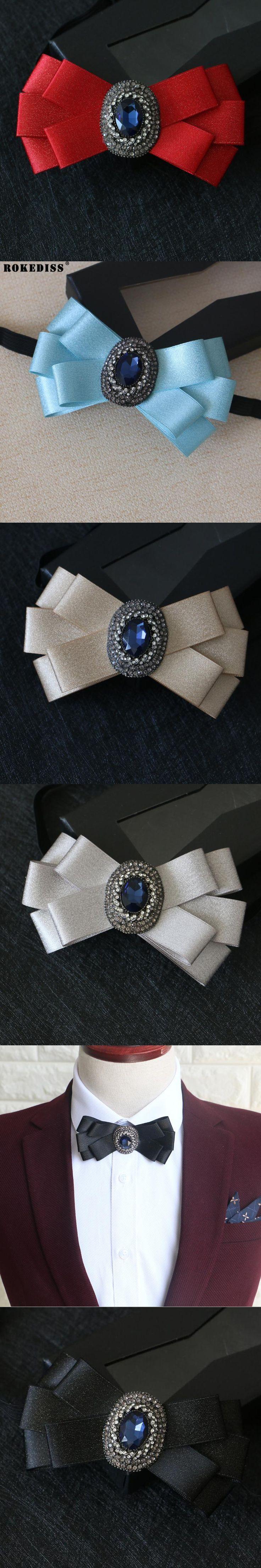 ROKEDISS Groom wedding diamond bow tie groom wedding dress Korean version female bow black British men bow tie Z306