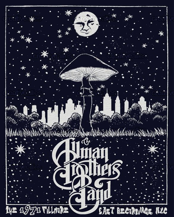 Allman Brothers Band Poster by Evan on CreativeAllies.com