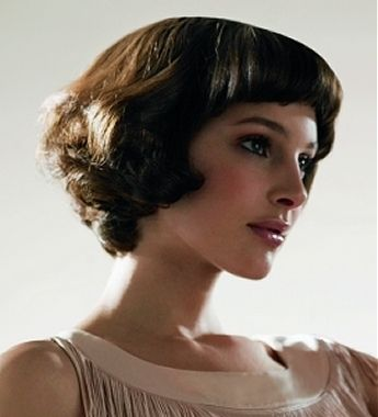 Romantic Short Hairstyle with Bangs For Faces with Small Foreheads