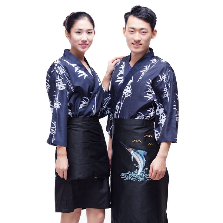 Japanese chef uniform cook suit NEW Japan chef uniform Bamboo pattern Japanese sushi women and man wear chef Servic #Affiliate