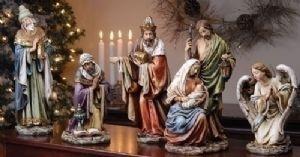 "Your Wholesale Dropship Source - 5pc St 16 Nativity Fig W/Angl  Joseph Studio - Joseph Studio Christmas - Roman Joseph'S Studio Coll  Materials: Resin/Stone Mix  Dimensions: 24.5""H 21""W 6""D"