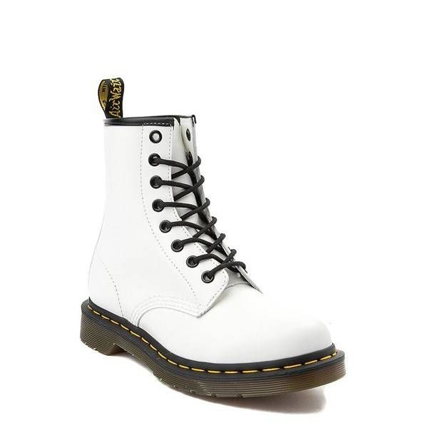 Womens Dr. Martens 1460 8 Eye Boot White | Boots, Doc