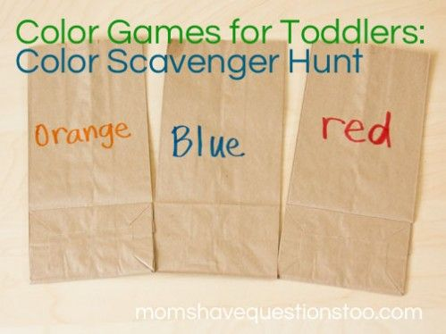 color games for toddlers color scavenger hunt - Colour Games For Preschoolers