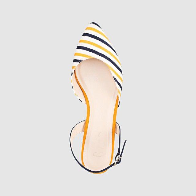 Image Striped Ballet Pumps R édition