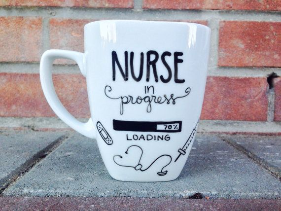 Nurse in progress Coffee Mug. Ceramic Mug. Gifts for by PupocoARTS