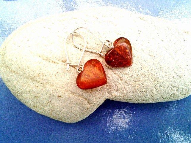 Baltic Amber Heart Earrings £21.95
