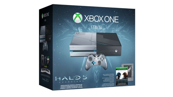 Get 3 Free Games & Exclusive Collectible Pin Set - Office Price: $499.00 on Xbox One Limited Edition Halo 5: Guardians Bundle Deal, Microsoft Xbox One Black Friday Deals 2015