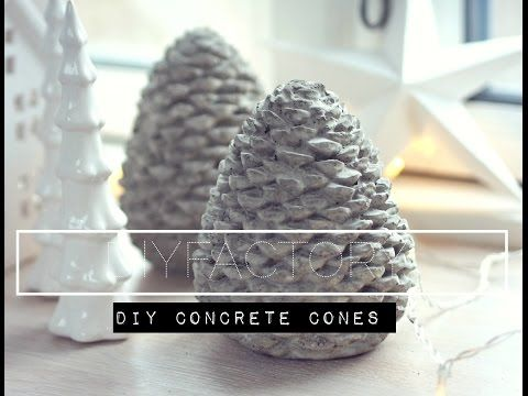 DIY   Concrete Cones From Mold   YouTube