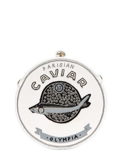 Caviar Rounded Clutch