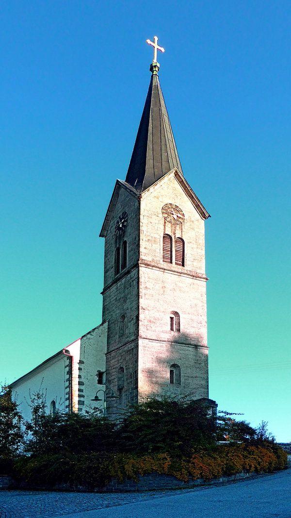 The village church of Schwarzenberg. Schwarzenberg am Böhmerwald, Österreich / Austria