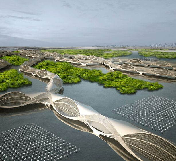 Wetropolis: A Floating City that Survives the Ebb and Flow of Shifting Tides