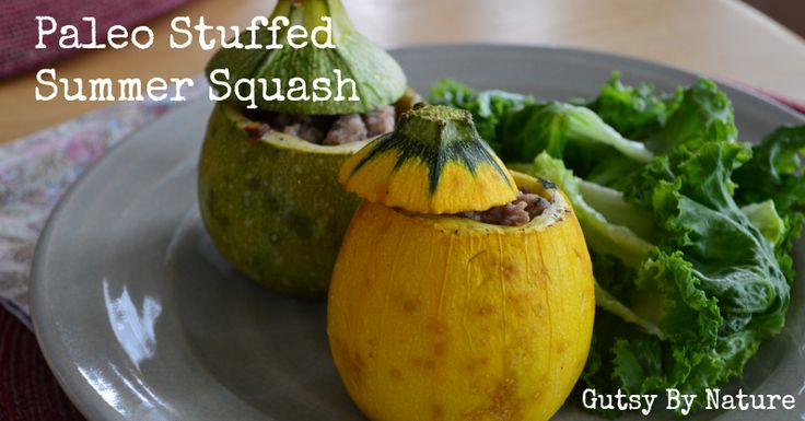 Paleo Stuffed Summer Squash - Gutsy By Nature AIP Diet Friendly