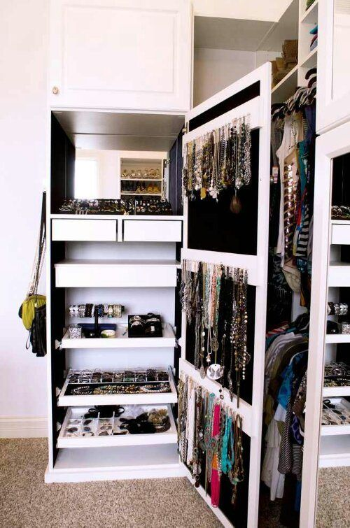 jewelry closet...love this