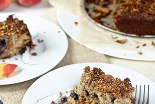 Peaches and Blueberry Coffee Cake — Recipe from The Healthy Foodie