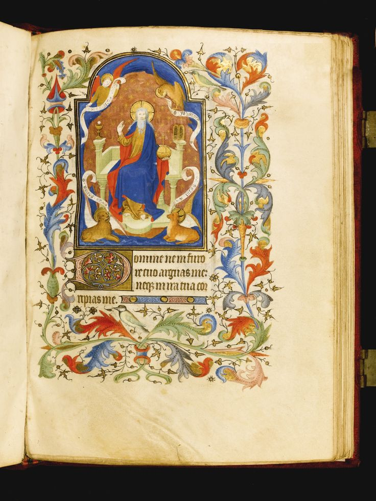 book of hours  use of paris  in latin and french  illuminated manuscript on vellum  northern