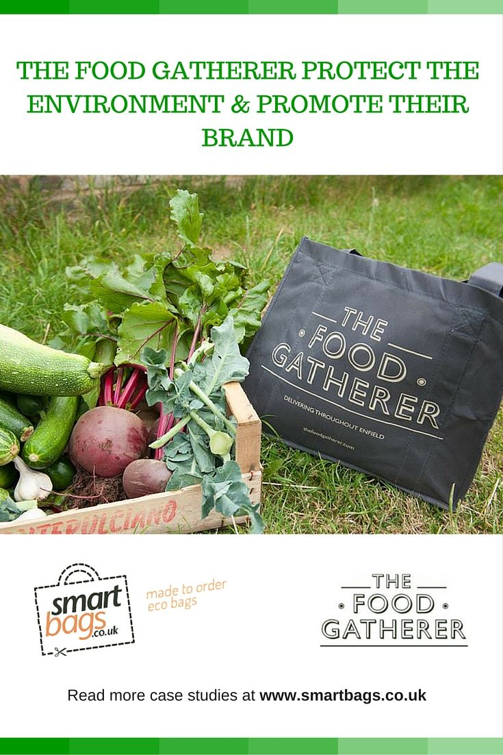 """The Food Gatherer protect the environment and promote their brand.   