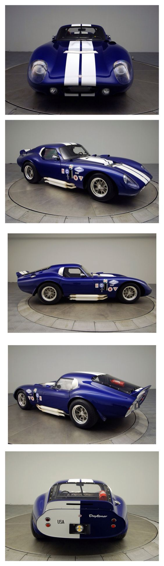 Luxury caravan with full size sports car garage from futuria - Shelby Cobra Daytona Dream Garagecar