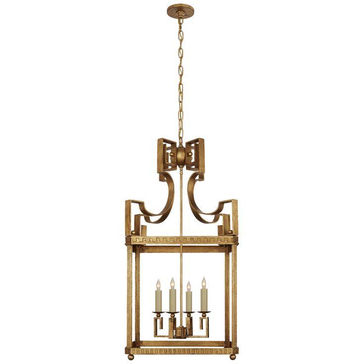 severn large square lantern in weathered verdigris