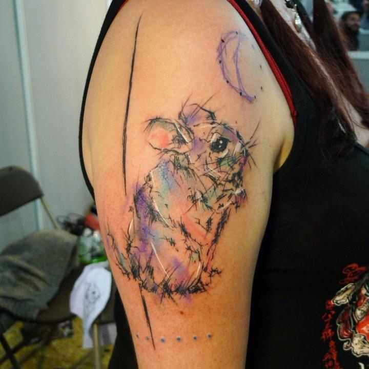 Musa Lukáš mouse moon tattoo