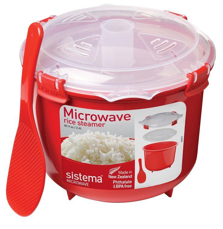 Sistema Mikrowellen- Reiskocher rund, 2.6 l, rot: Amazon.de: Küche & Haushalt