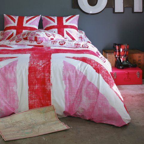 housse de couette de coton imprim e drapeau anglais old flag 3 suisses lauryne pinterest. Black Bedroom Furniture Sets. Home Design Ideas