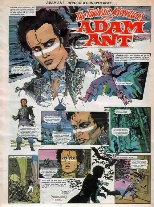 Adam Ant strip from No.1 Magazine.