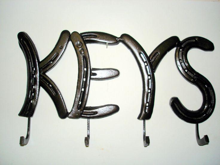 Horseshoe keys rack.