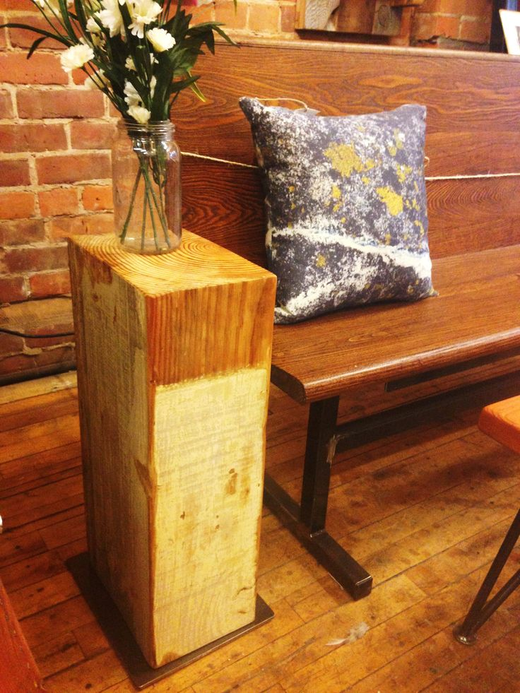 Our unique Beam Side Tables are made from wood reclaimed from the late High Park Baptist Church. Keep an eye out for our Beam Stools, coming soon! (Thank-you Shannon!) ‪#‎reclaimedwood‬ ‪#‎beam‬ ‪#‎sidetable‬ ‪#‎Toronto‬