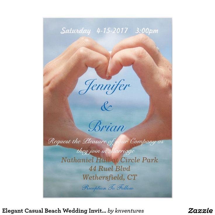 creative wording for rehearsal dinner invitations%0A Elegant Casual Beach Wedding Invitation