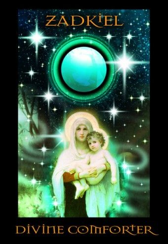 Archangel Zadkiel as the DIVINE COMFORTER bestows beneficent wisdom upon us, allowing clear vision to take place over the obstacles that per...