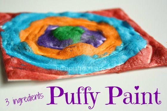 3 ingredient puffy paint - happy hooligans - self rising flour paint