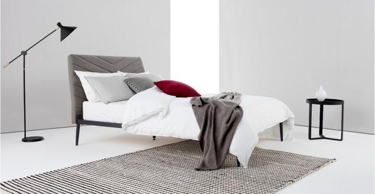 Lex Polsterbett (140 x 200 cm), Graphitgrau ► Für mehr Abwechslung im Schlafzimmer! Entdecke jetzt moderne Betten bei MADE.