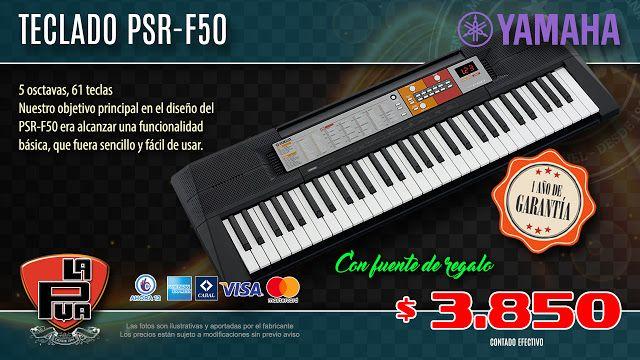 La Púa San Miguel: Teclado YAMAHA PSR-F 50 - 61 Teclas, 5 Octavas