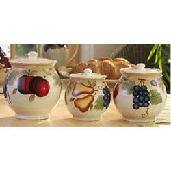 Fruit Fantasy 3-piece Kitchen Canister Set