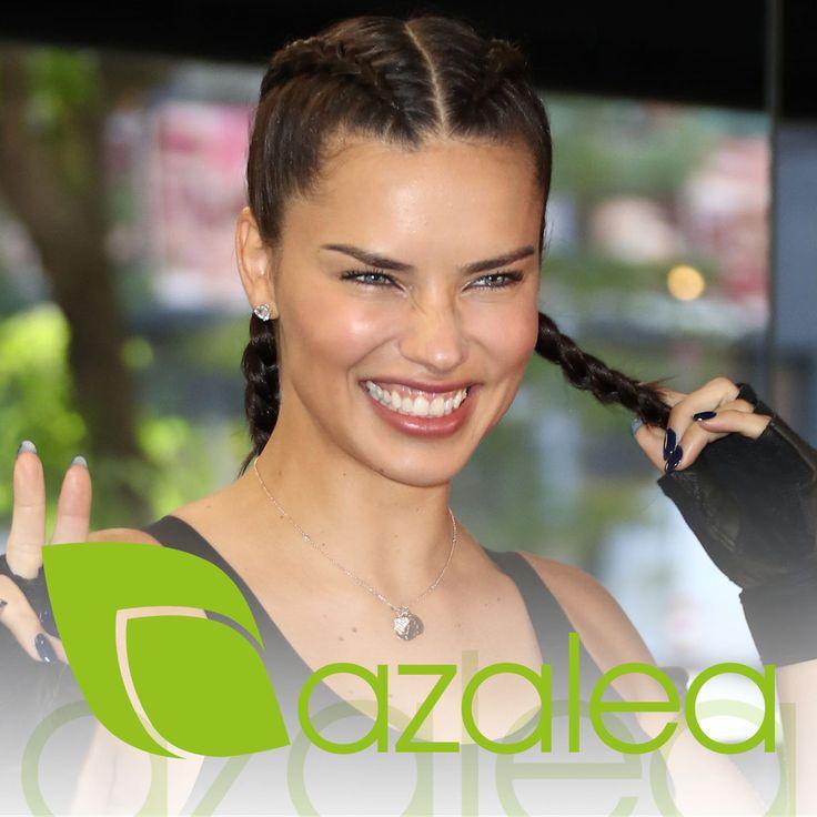 Para el gym lo mejor es llevar el pelo recogido  Haz como Adriana Lima y apúntate al look con trenzas ¡Y a sudar la gota gorda!  #AzaleaCosmetics #Hairstyle #AdrianaLima #Gym #Gimnasio #BoxerBraid #Look #Sudar #Estilo #Trenzas #Deporte