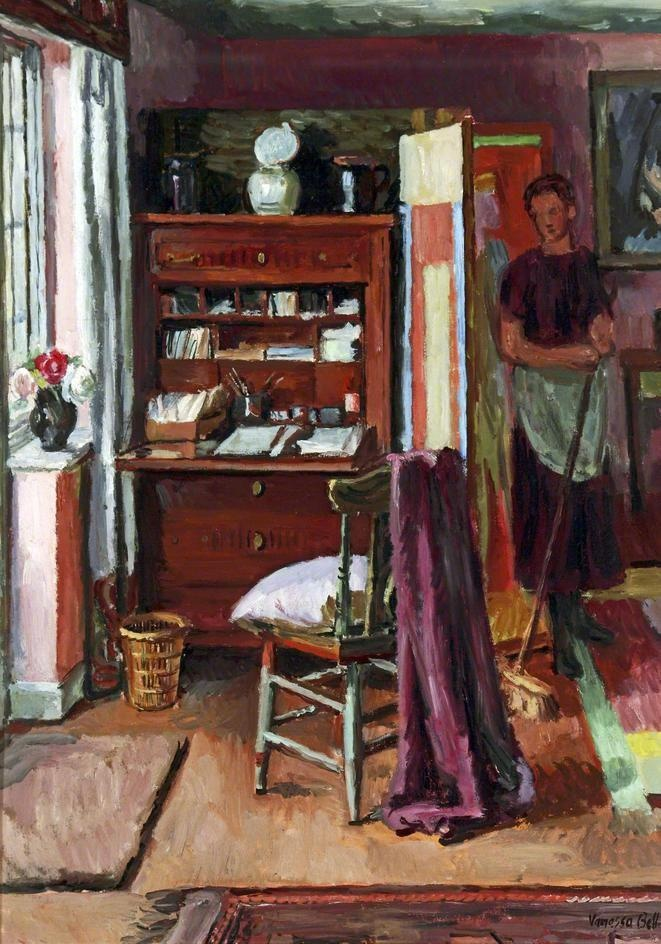 artist..Vanessa Bell  Interior with a Housemaid, 1939