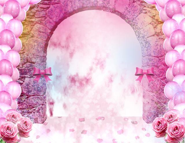 Lindo fondo rosa para quinceañeras - Frames