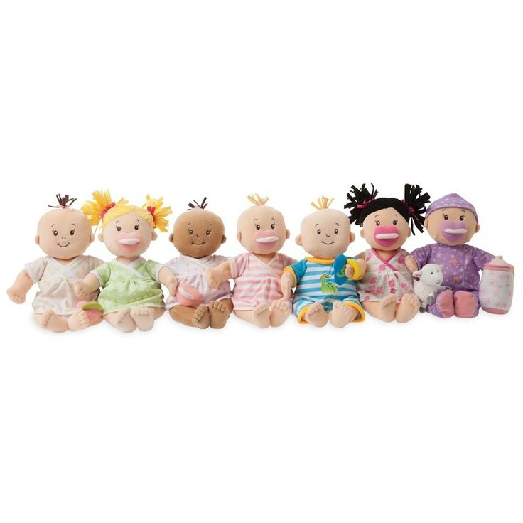Baby Stella Dolls are the absolute best first baby doll for a newborn. They are incredibly soft and cuddly, without compromising on quality and durability. And, they have a full line of accessories to stimulate imaginative play when baby gets a little older.   The Stella Doll will be baby's favorite doll forever.