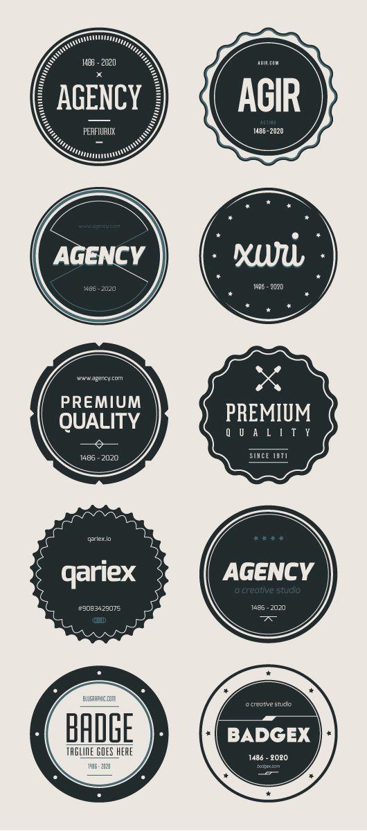 Vector Free Badges by Wassim Awadallah, via Behance