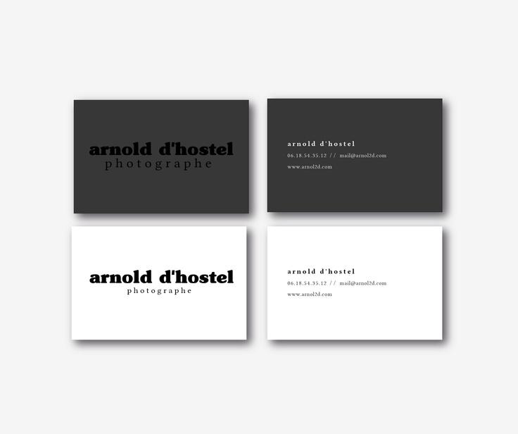 Propositions cartes de visite // Arnold d'Hostel