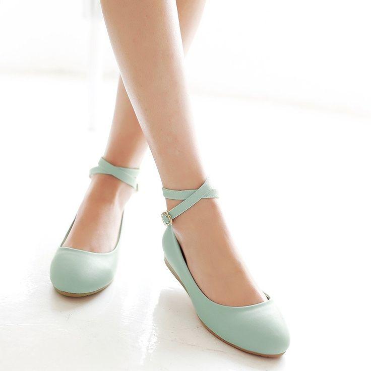 Ankle Staps Women Wedges Shoes Low Heels – Shoeu