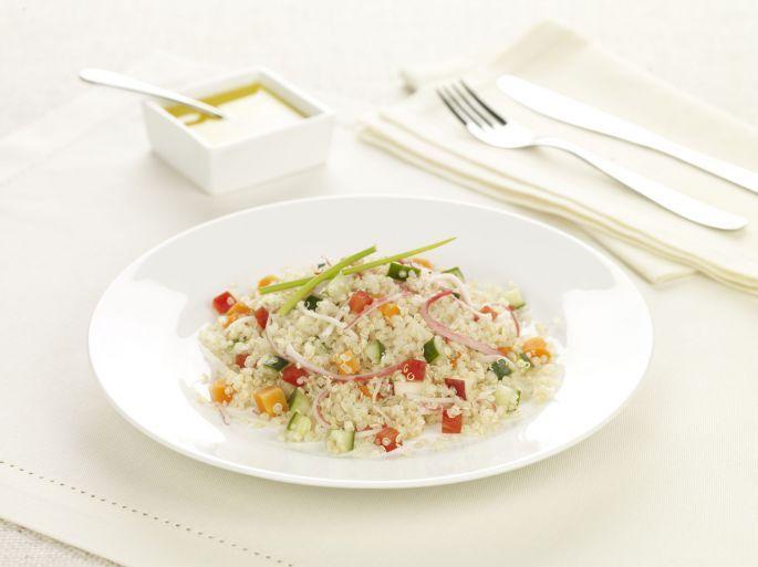 Salada de Quinoa e Kani