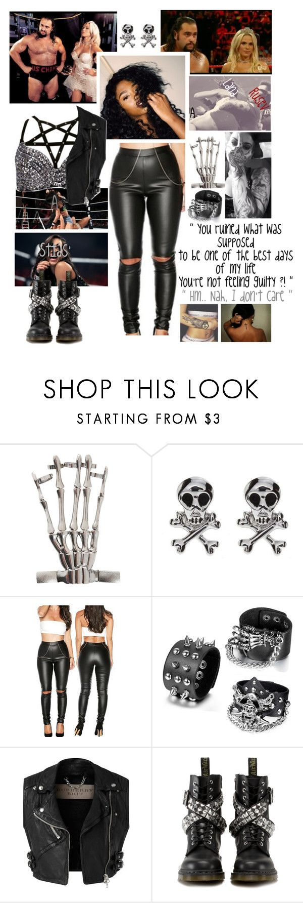 """""""🌪 Anasttasia 🌪 Raw 🔴 Lana calls out Anasttasia"""" by queenofwrestling ❤ liked on Polyvore featuring Burberry, Dr. Martens, Lana, WWE, raw, wrestling and rusev"""