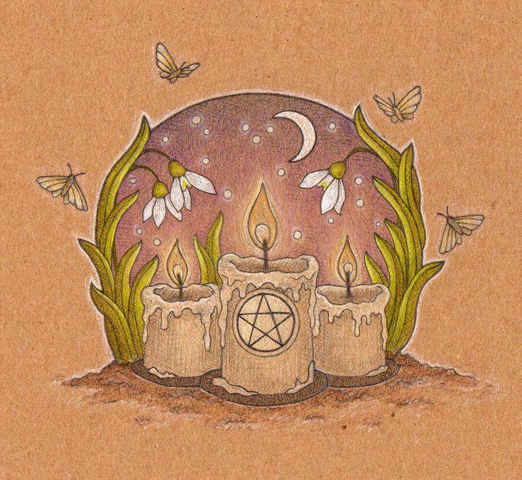 Imbolc candles by me-tal.deviantart.com on @DeviantArt